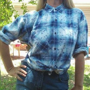 Unique Vintage Plaid Button Down Shirt